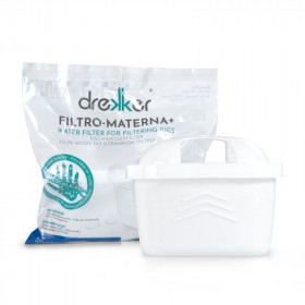 Drekker FILTRO-MATERNA+ - Filtr zamiennik do Brita Maxtra+ - 1 sztuka