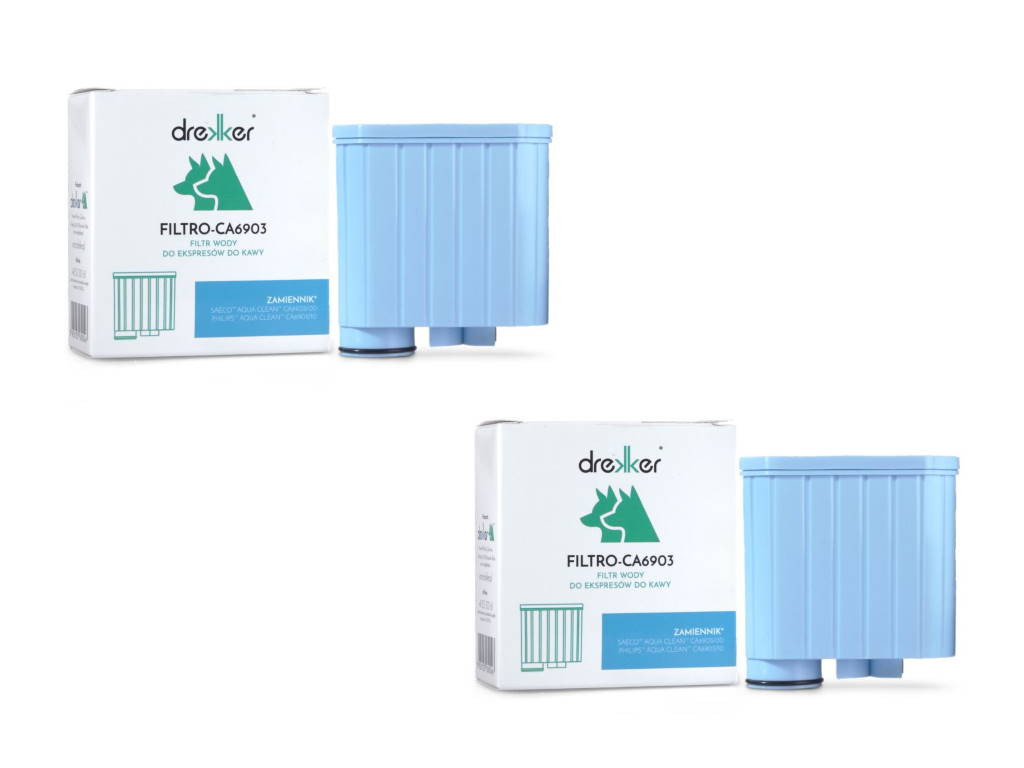 DWUPAK - Drekker FILTRO-CA6903 - Filtr zamiennik do Philips Saeco AquaClean CA6903/10 CA6903/00