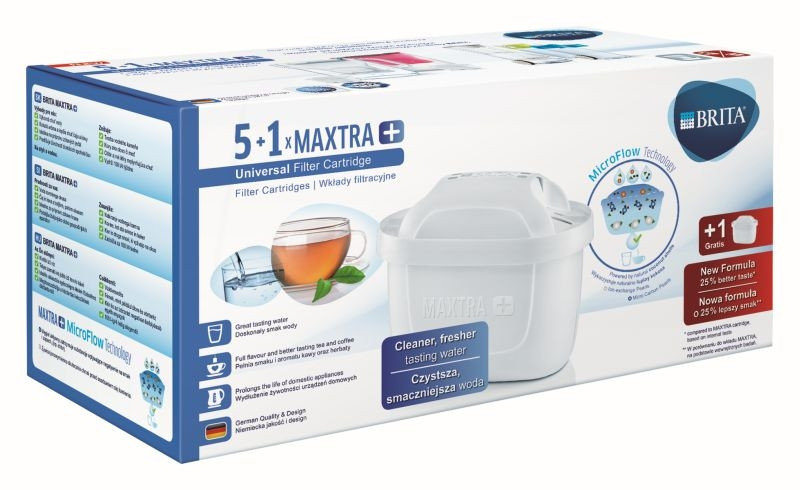 Brita Maxtra+ 6 sztuk - Oryginalny filtr do dzbanków