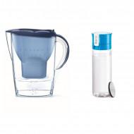 Zestaw: Dzbanek Brita Marella XL 3,5L niebieski + Butelka filtrująca Brita Fill&Go 600ml niebieska