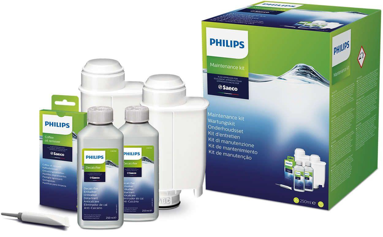 Philips Saeco CA6706/10 - Zestaw do konserwacji z filtrami wody BRITA INTENZA+ CA6702