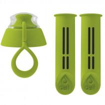Dafi dwa filtry + zakrętka do butelki kolor limonkowy (zielony)